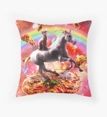 Space Cat Riding Unicorn - Pizza & Taco Floor Pillow