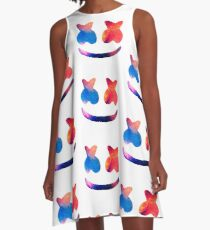 Marshmello Galaxy A-Line Dress