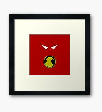 Minimalist Red Robin Framed Print