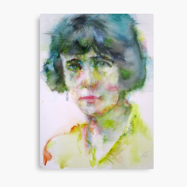 KATHERINE MANSFIELD - watercolor portrait.4 Metal Print