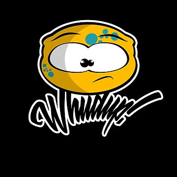 Whudup! Cute and Funny Cartoon Alien Character by mrgraphilip