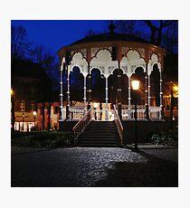 Muziek Kiosk op het Munsterplein, Roermond Photographic Print