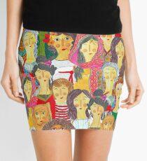 Pattern #75 - The gaze of sisterhood Mini Skirt