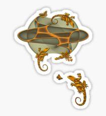 Geckos - Butterflies - Bird Sticker