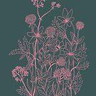 Dark meadow flowers by Linn Warme