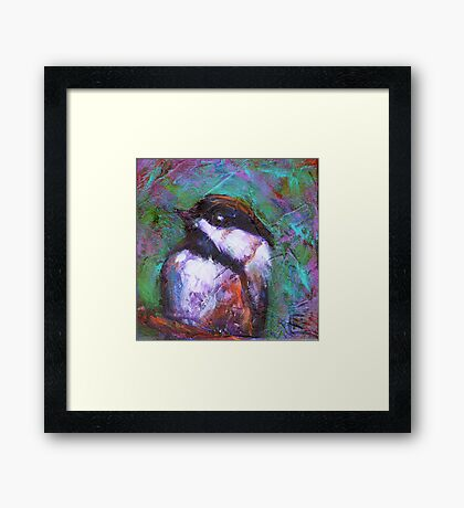 Reasons to Be Cheerful : Chickadees Framed Print
