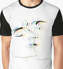 Psychedelic Lovers Kiss Graphic T-Shirt