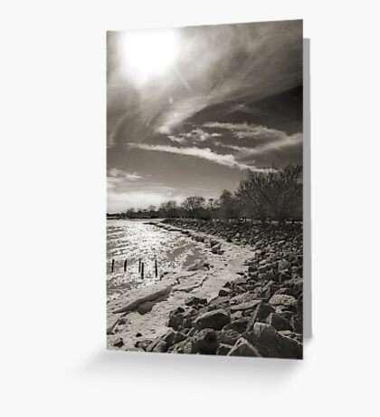 a quiet walk by the lake Greeting Card