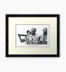 Vietnam War Memorial  - 3 soldiers Framed Print