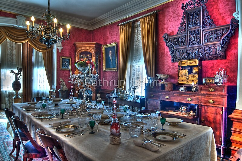 Quot Dining Room 1800s Home Quot By Cathryn Lahm Redbubble