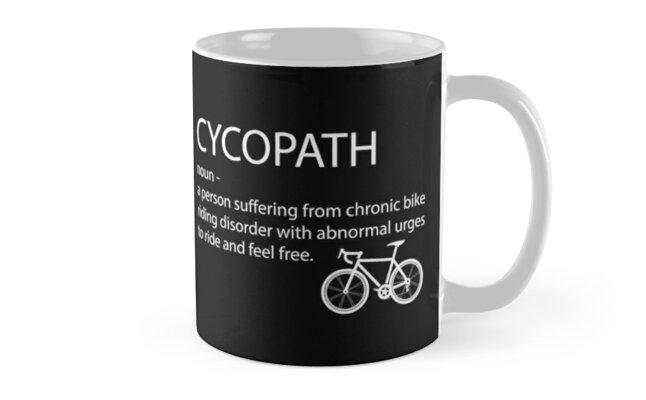 Cycling Funny Design - Cycopath Noun  by kudostees