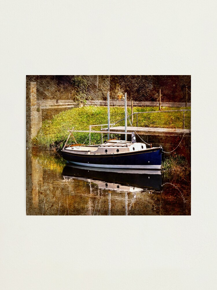 Alternate view of Little River Boat. (Textured Effect) Photographic Print