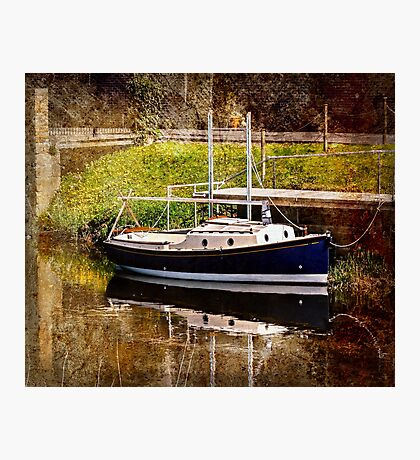 Little River Boat. (Textured Effect) Photographic Print