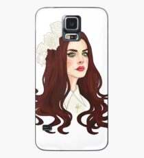 Lana Del Rey Digital Drawing Design (flowers) Case/Skin for Samsung Galaxy