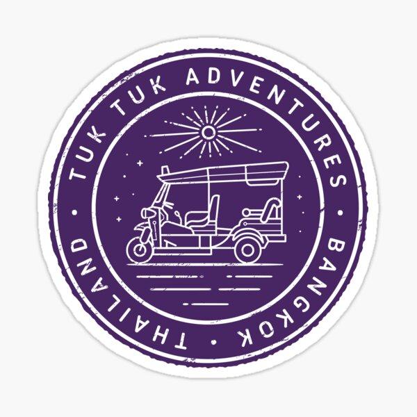 Tuk Tuk Adventures, Bangkok, Thailand - Iconic Design Sticker