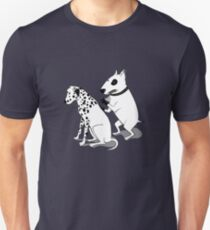 Bull Terrier and Dalmatian Unisex T-Shirt