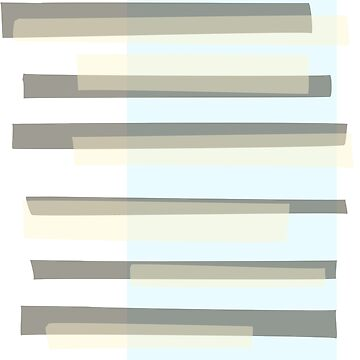 Beige, blue and grey abstract modern rectangle stripes by UDDesign