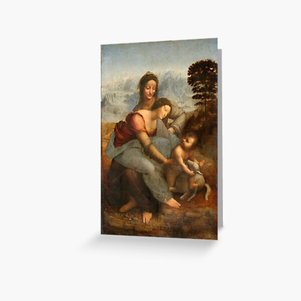 Leonardo Vinci - The Virgin and Child with St. Anne Greeting Card