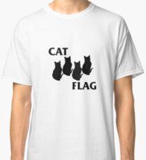 Funny Cat Flag Music Parody  Classic T-Shirt