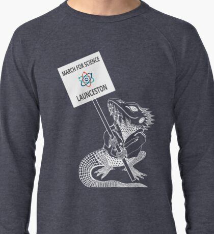March for Science Launceston – Beardie, white Lightweight Sweatshirt