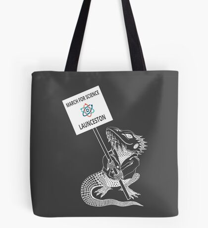 March for Science Launceston – Beardie, white Tote Bag