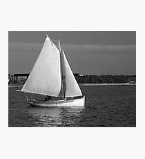 Evening Sail in a Cat Boat Photographic Print