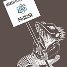 March for Science Brisbane – Beardie, white by sciencemarchau