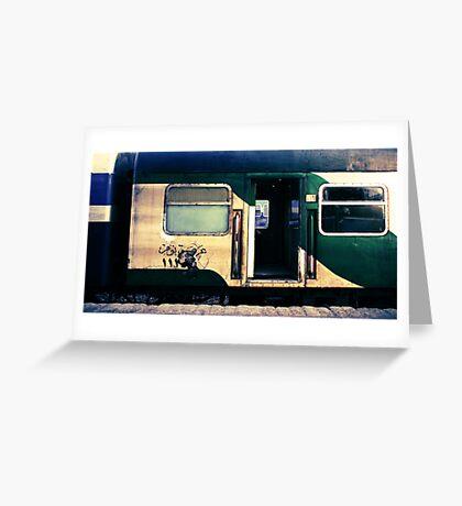 night train to cairo Greeting Card