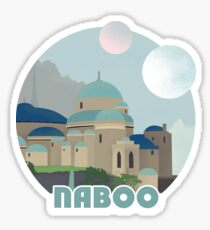Naboo Retro Travel Poster Sticker