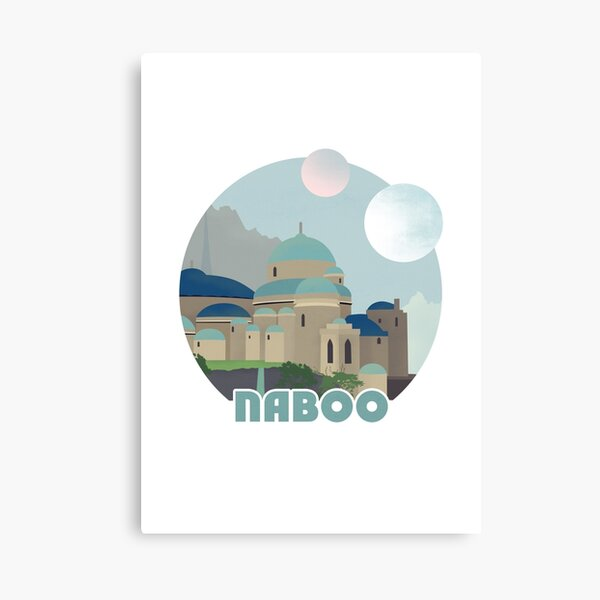 Naboo Retro Travel Poster Canvas Print
