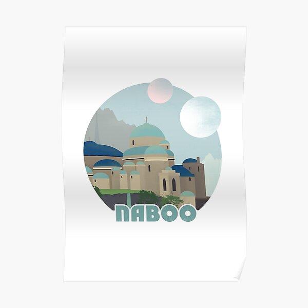 Affiche de voyage rétro Naboo Poster