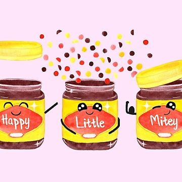 Happy, Little & Mitey - Pink by makemerriness
