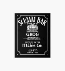 Monkey Island Scumm Bar Grog Art Board