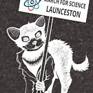 March for Science Launceston – Tassie Devil, white by sciencemarchau