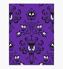 Haunted Mansion Wallpaper Color Photographic Print