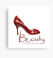 Beauty & Sexuality Shoes Canvas Print