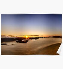 Golden Hour at St Andrew Beach Poster