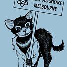 March for Science Melbourne – Tassie Devil, black by sciencemarchau