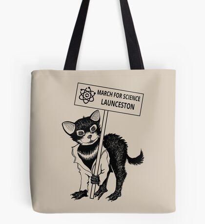 March for Science Launceston – Tassie Devil, black Tote Bag