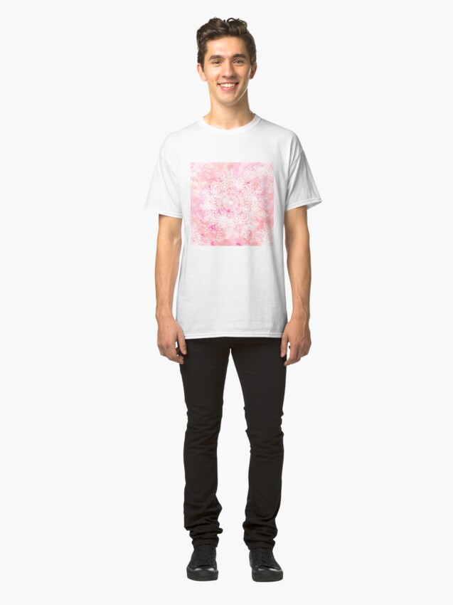 Alternate view of Queen Starring of Mandalas Pink Classic T-Shirt