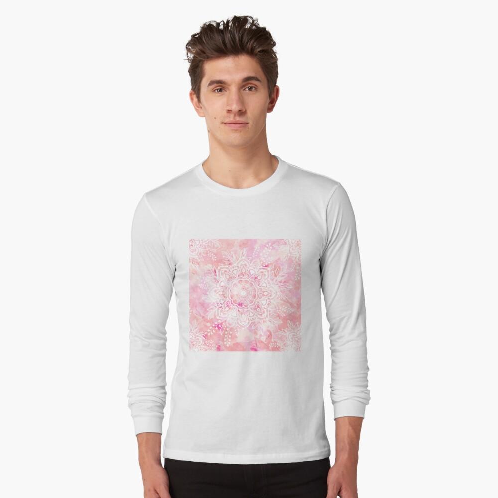 Queen Starring of Mandalas Pink Long Sleeve T-Shirt
