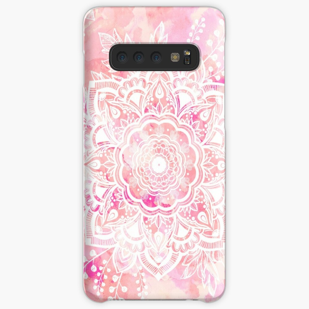 Queen Starring of Mandalas Pink Case & Skin for Samsung Galaxy