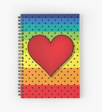 Rainbow Hearts Spiral Notebook