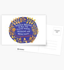 Women Belong In All The Places Where Decisions Are Being Made, Ruth Bader Ginsburg Postcards