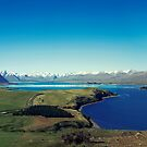 She felt tiny in Lake Tekapo by josemanuelerre