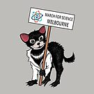 March for Science Melbourne – Tassie Devil, full color by sciencemarchau