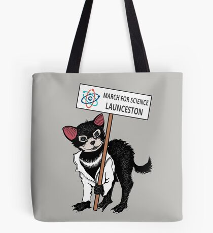 March for Science Launceston – Tassie Devil, full color Tote Bag