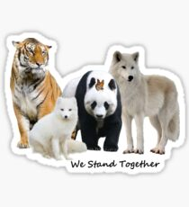 We Stand Together With Wildlife Sticker