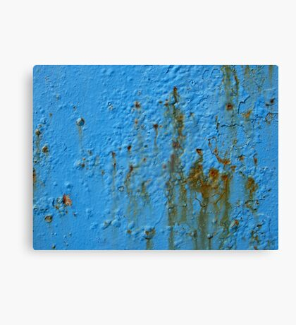 Blue paint in port,Marocco Canvas Print
