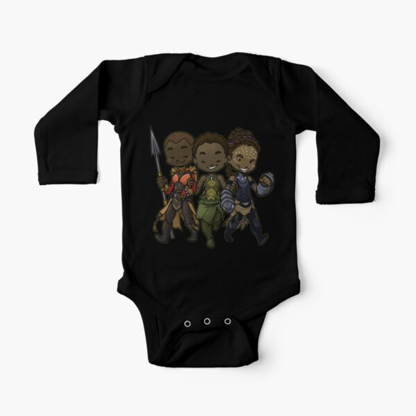Panther Trio Long Sleeve Baby One-Piece